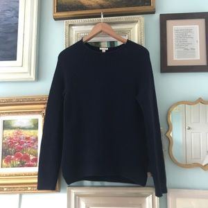 Gap navy fisherman's sweater
